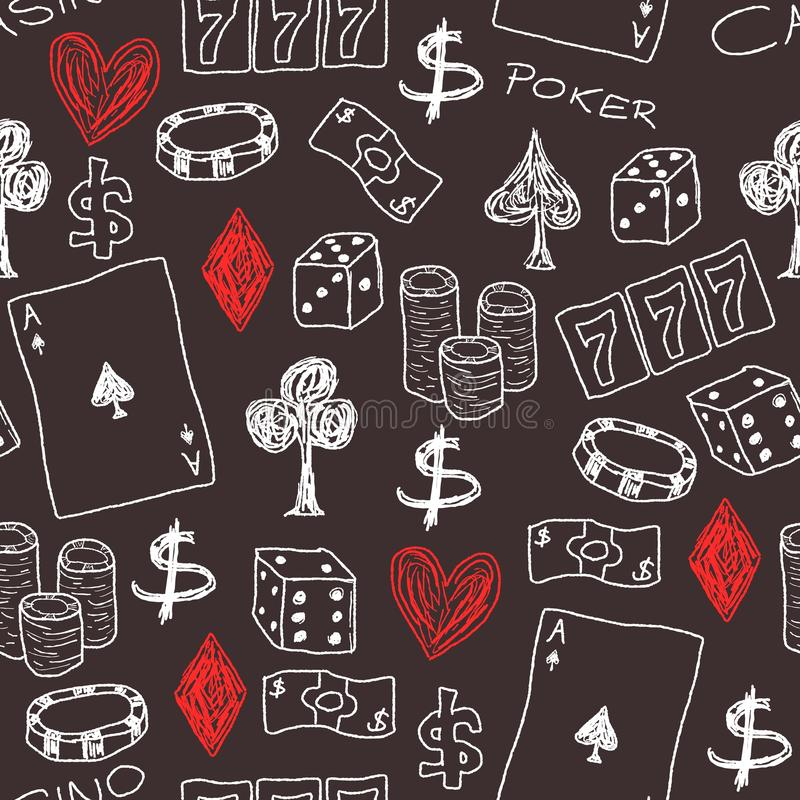 Kasino royaltyfri illustrationer