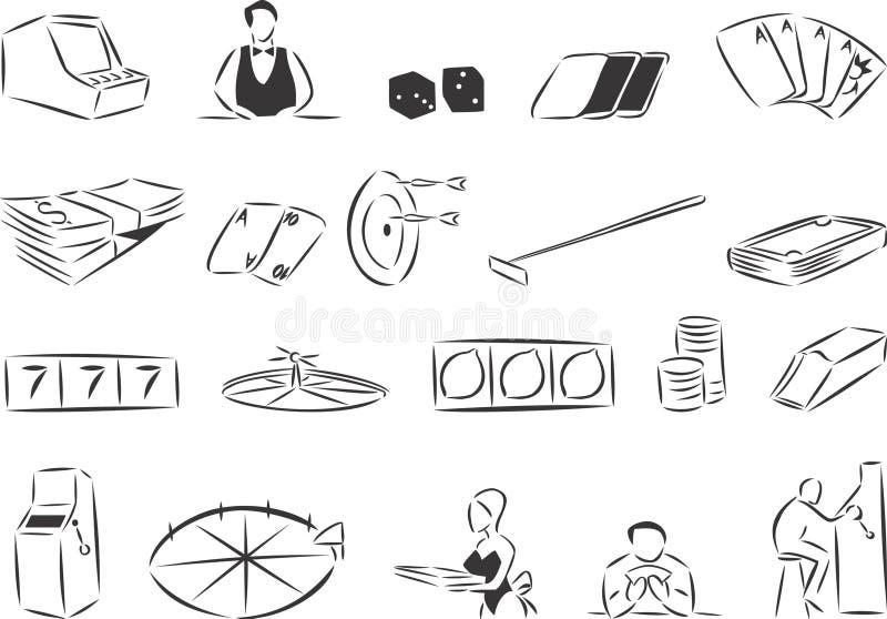 kasino vektor illustrationer