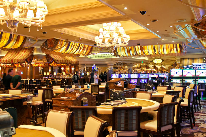 Kasino in Bellagio-Hotel in Las Vegas stockbilder