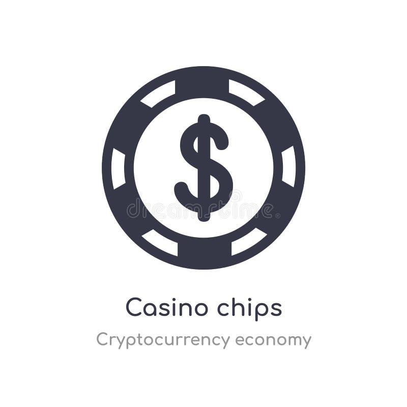 Kasino bricht Ikone ab lokalisierte Kasinochipikonen-Vektorillustration von der cryptocurrency Wirtschaftssammlung editable singe lizenzfreie abbildung