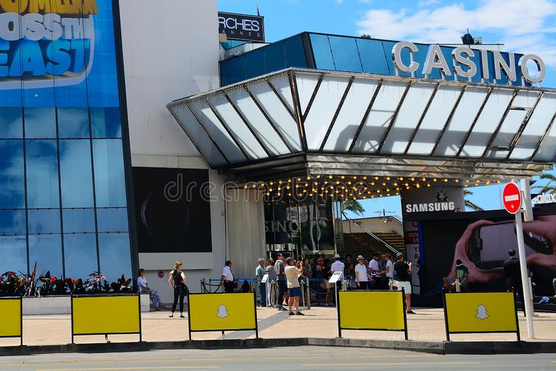 Kasino Cannes, Frankrike royaltyfria bilder