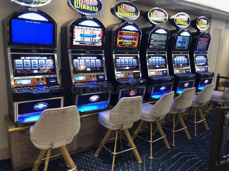 Kasino f?r kryssningskepp royaltyfria bilder