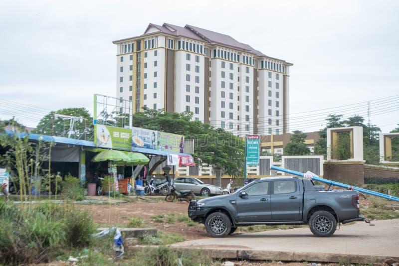 KASINO-HOTEL KAMBODSCHAS ANLONG VENG CHOAM stockfotografie