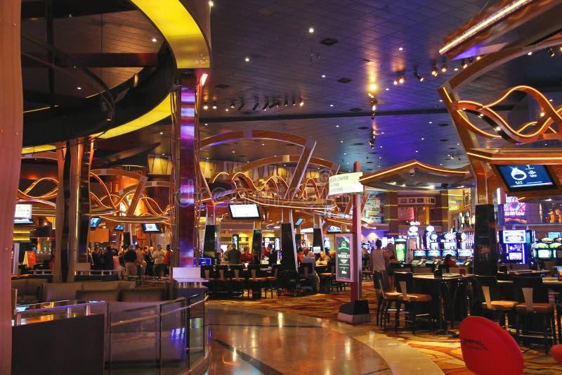 Kasino i det nya York-nya York hotellet och kasino i Las Vegas. arkivfoton