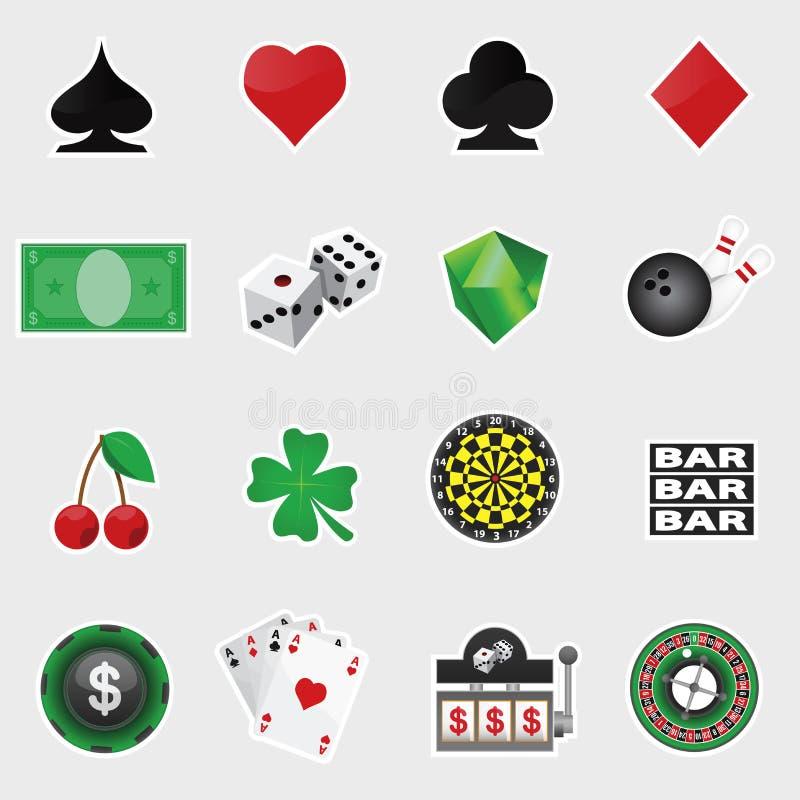 Kasino-Ikonen-Satz stock abbildung