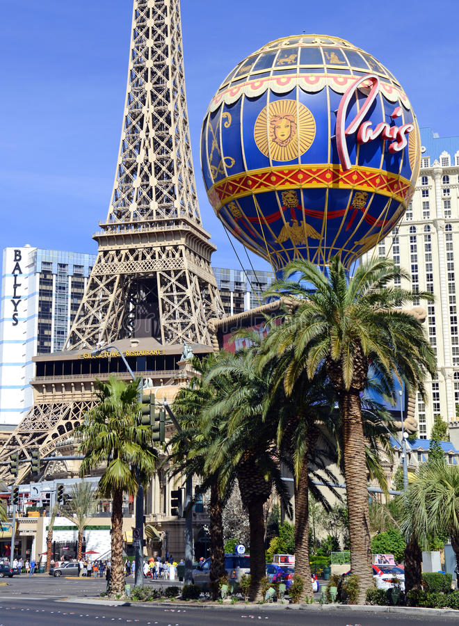 Kasino längs remsan i Las Vegas, Nevada arkivbild