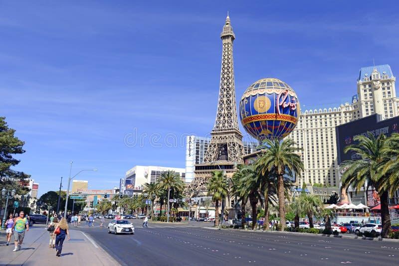 Kasino längs remsan i Las Vegas, Nevada arkivfoto