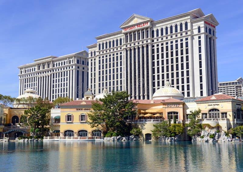 Kasino längs remsan i Las Vegas, Nevada arkivfoton