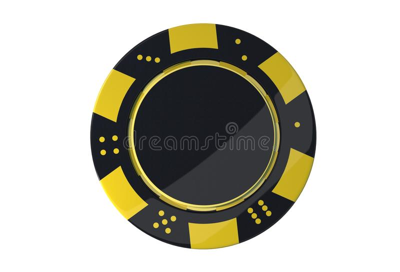 Kasino modiga Chip Isolated vektor illustrationer