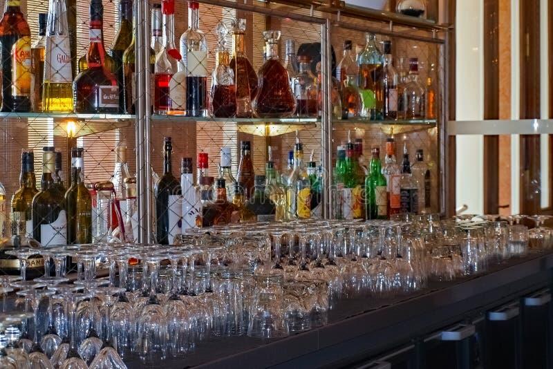Kasino Monte Carlo Bar royaltyfria foton