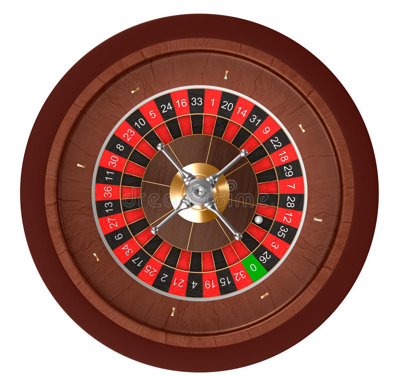Kasino-Roulette. Draufsicht. stock abbildung