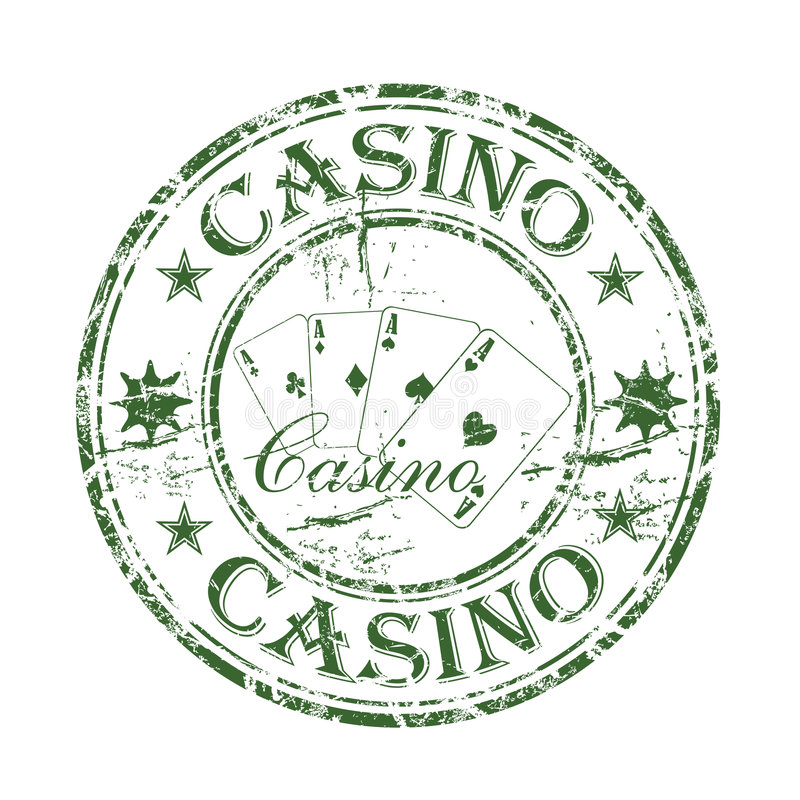 Kasino-Stempel stock abbildung