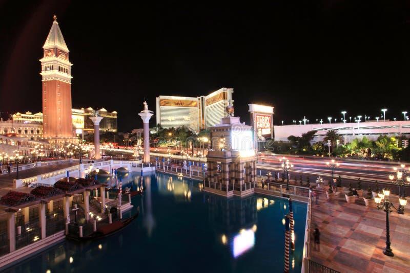 kasino venetian Las Vegas royaltyfria foton