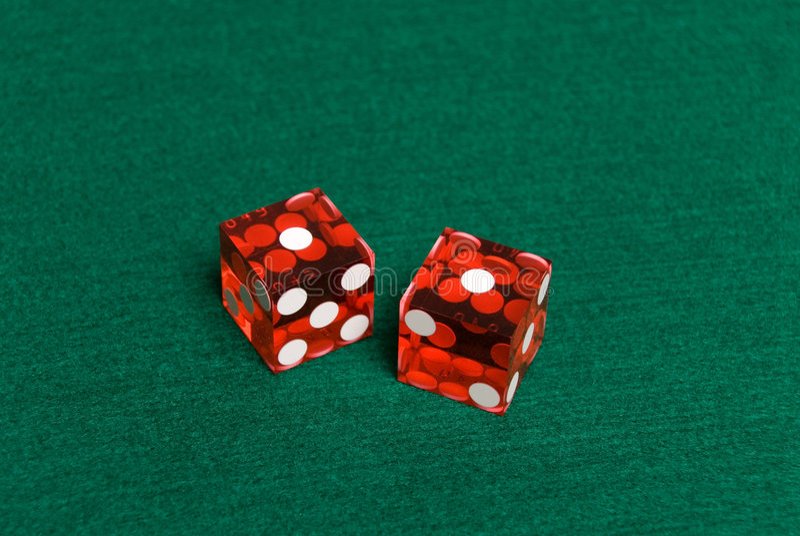 Kasino-Würfel lizenzfreies stockfoto