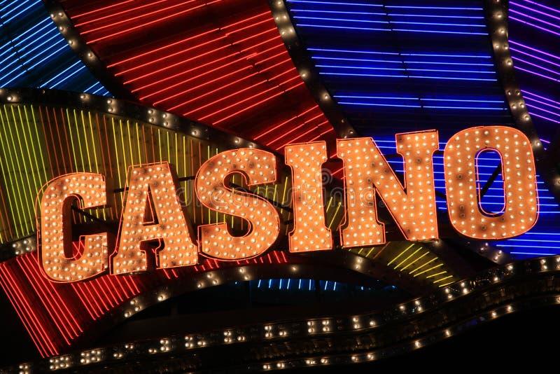 Kasino-Zeichen stockfotos