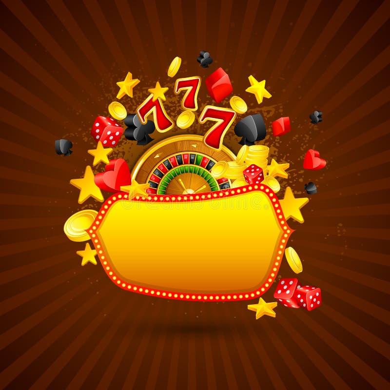 Kasinobakgrund royaltyfri illustrationer