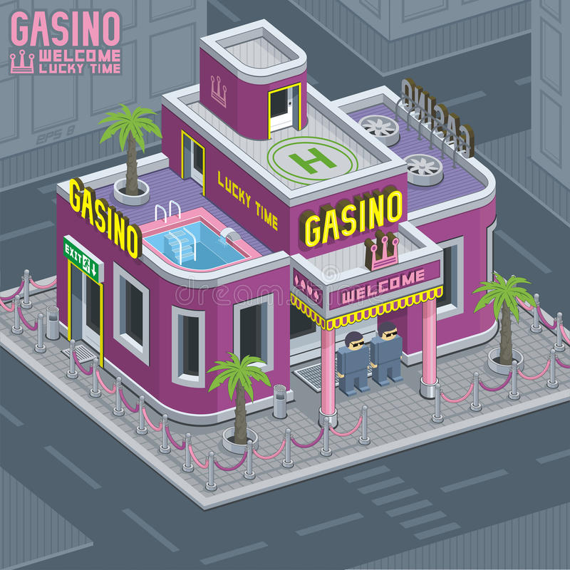 Kasinobyggnad stock illustrationer