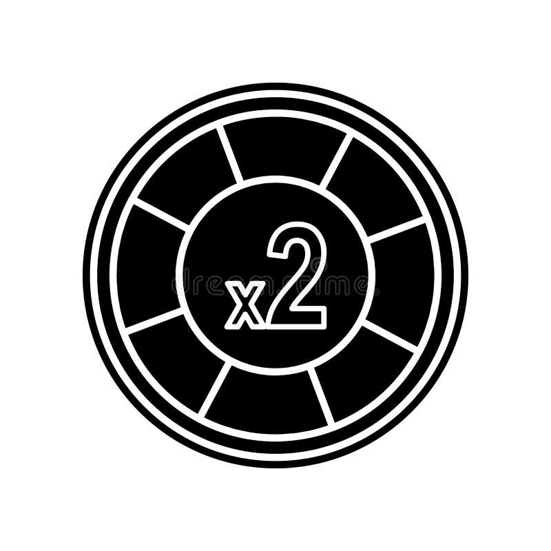 Kasinochipzunahme Ikone zwei Element des Kasinos f?r bewegliches Konzept und Netz Appsikone Glyph, flache Ikone f?r Websiteentwur stock abbildung