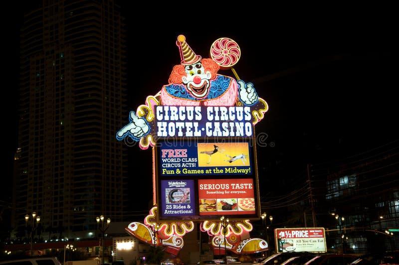 kasinocirkushotell Las Vegas arkivfoton