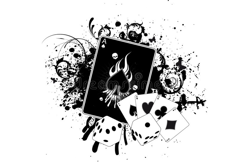 kasinogrunge stock illustrationer