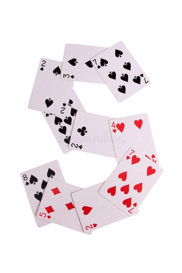Kasinologoen cards tre royaltyfri bild