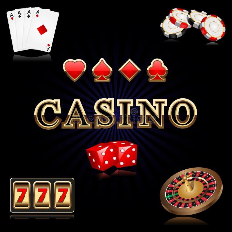 kasinoobjekt stock illustrationer
