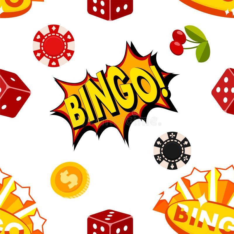 Kasinot som spelar leken för lek för vågspelet för segerlyckaförmögenhet, anmärker för den vegas för framgång för riskmöjlighetss royaltyfri illustrationer