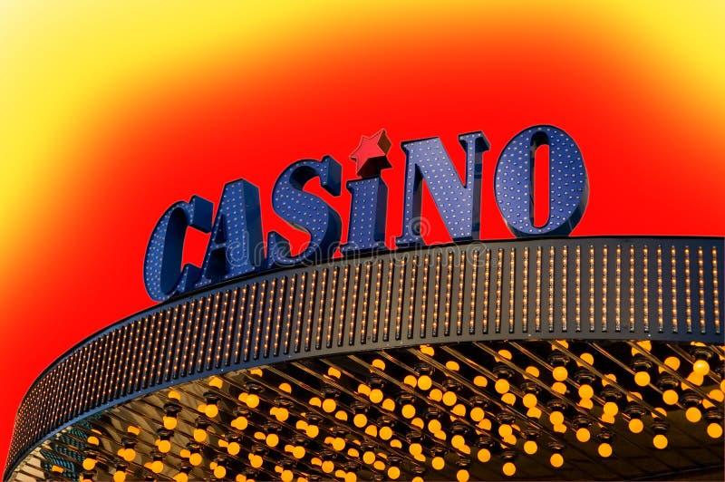 Kasinozeichen lizenzfreie stockfotos