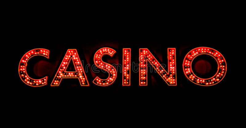Kasinozeichen lizenzfreies stockbild