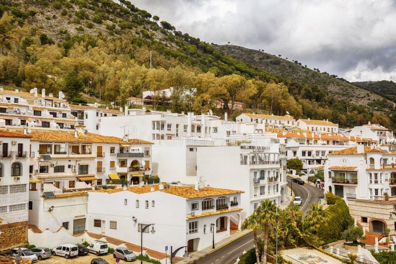 Kaskada w Mijas, Hiszpania zdjęcie stock