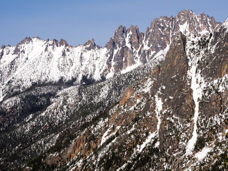 Kaskadowe góry w stan washington obraz stock
