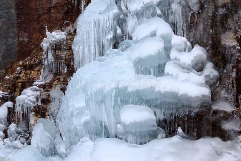 kaskadowy lodowy sculputre obrazy stock