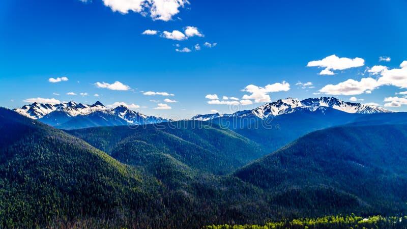 Kaskadowy pasmo górskie w Kanada BC zdjęcie stock