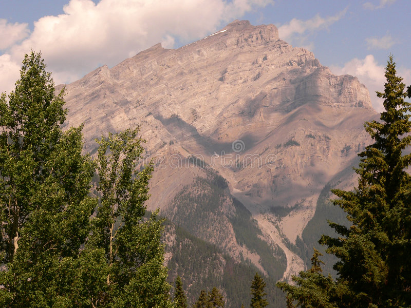 kaskady banff góry obraz stock