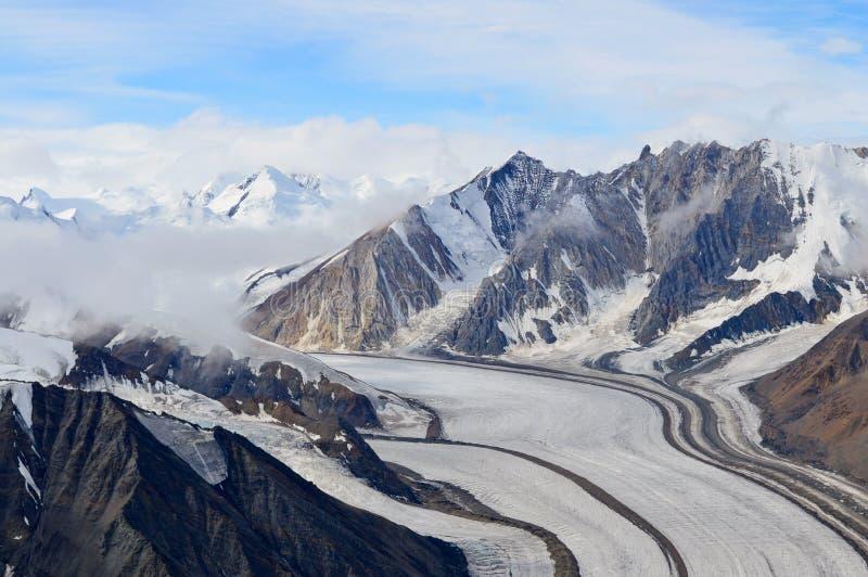 Kaskawulsh lodowiec i góry, Kluane park narodowy, Yukon 04 zdjęcie royalty free
