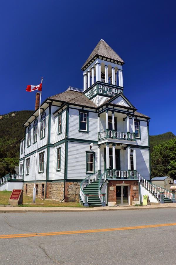 Kaslostad Hall National Historic Site, Kootenay-Meer, Brits Colombia stock afbeelding