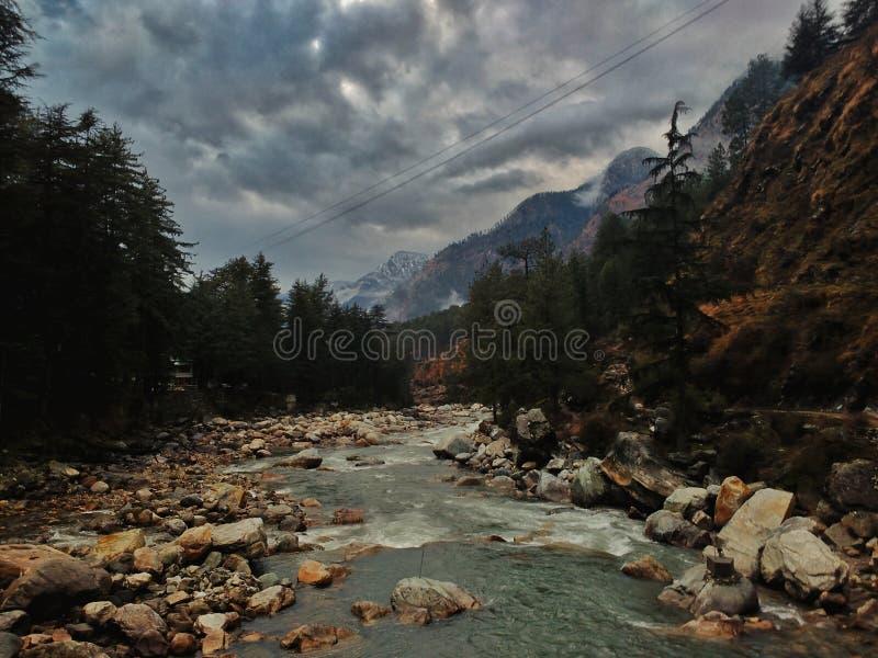 Kasol 1, κοιλάδα parvati στοκ φωτογραφίες
