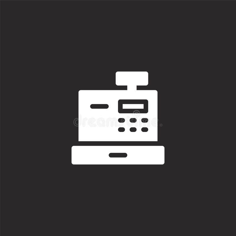 Kasregisterpictogram Gevuld kassapictogram voor websiteontwerp en mobiel, app ontwikkeling kassapictogram van gevuld vector illustratie
