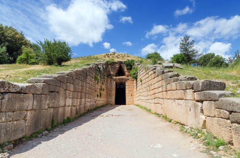 Kassa av Atreus, Mycenae, Grekland royaltyfria foton