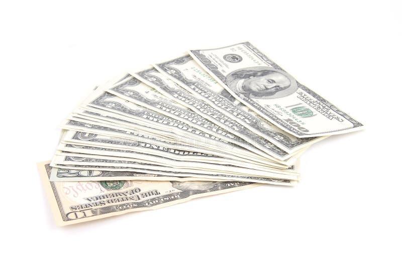 Kassa av US dollar och euro arkivfoto