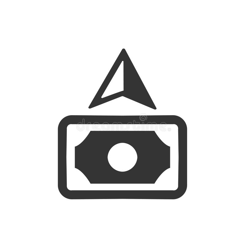 Kassa debiterad symbol vektor illustrationer
