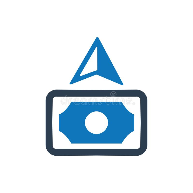 Kassa debiterad symbol royaltyfri illustrationer