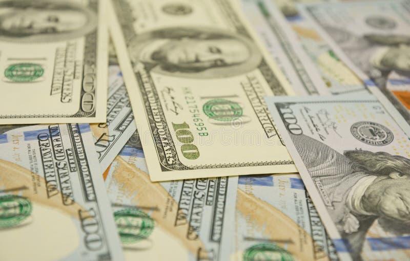 Kassafl?debegrepp 100 dollar foto Dollar Closeupbegrepp Amerikanska dollar kassapengar sedeldollar hundra en hundra arkivfoton