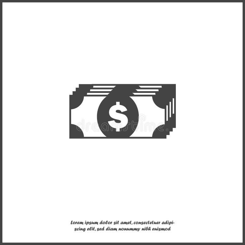 Kassapengarsymbol på vit isolerad bakgrund Lager som grupperas för lätt redigerande illustration stock illustrationer