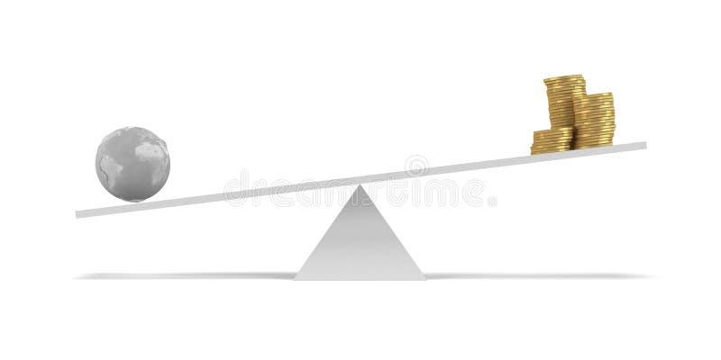 Kassaskåp jordbegreppet royaltyfri illustrationer