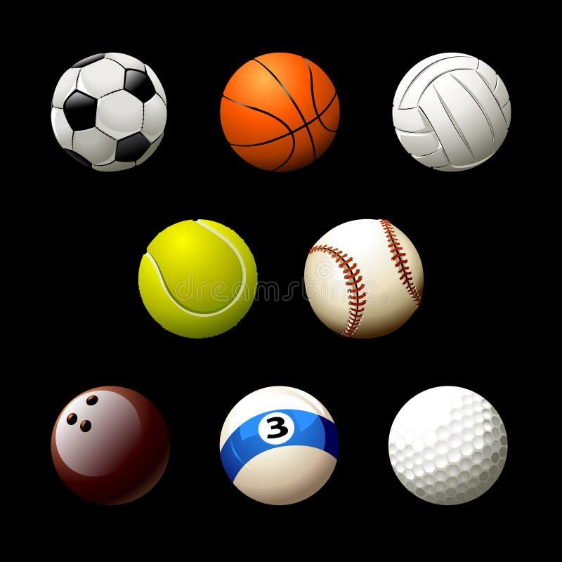 Kasseisteen van realistische ballen vector illustratie