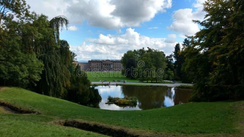 Kassel błękit i zieleń zdjęcia royalty free