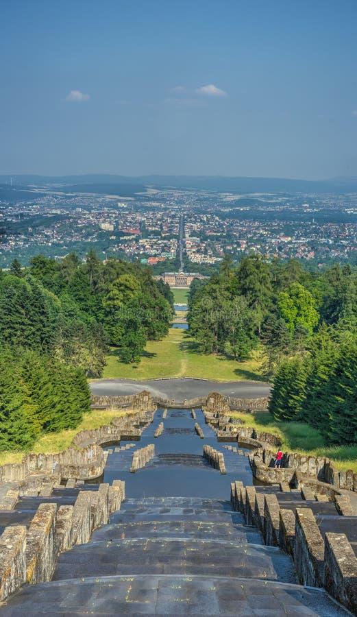 Kassel-Panorama lizenzfreies stockbild