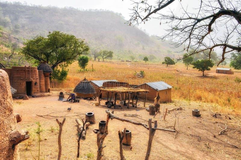 Kassena village, Ghana. Hand made houses in Ghana, Africa royalty free stock images