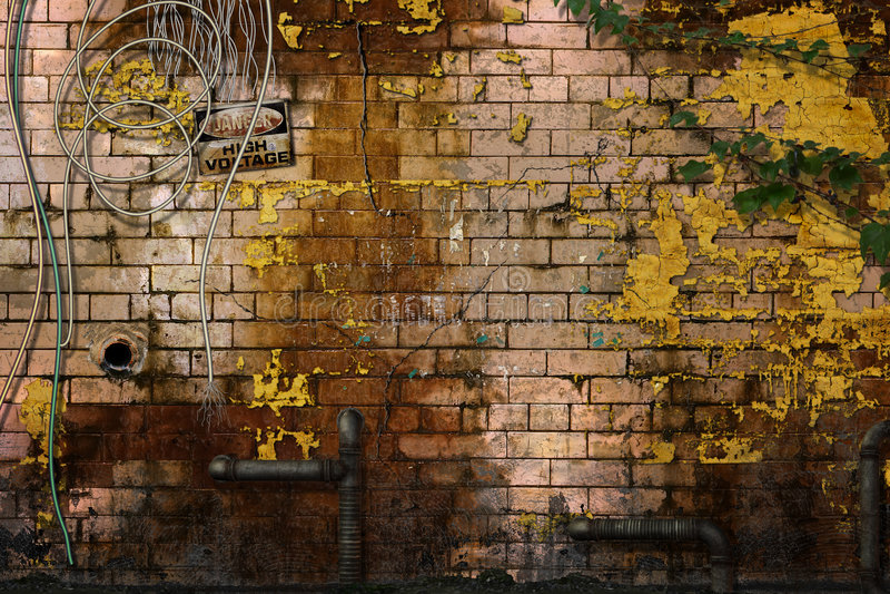 kasserad vägg vektor illustrationer